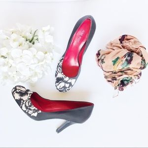 NWOT Nine West Ambitious Satin Pumps